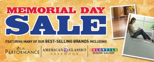 CarpetsPlus Color Tile Memorial Day Sale Event