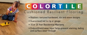 COLORTILE Cushioned Resilient Flooring available at CarpetsPlus COLORTILE