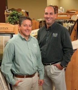 Bob Pireu and Pete Richey, owners of Bob and Pete's Floors in Canton, OH