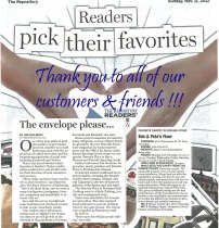 Bob and Pete's Floors in Canton, OH Voted 2012 Favorite Carpet/Flooring Store